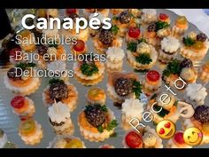 Canapes Faciles, Tapas, Sushi, Food And Drink, Lunch, Ethnic Recipes, Youtube, Pastel, New Years Eve