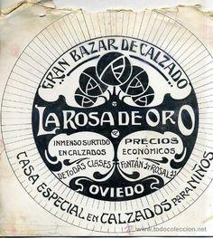 DIBUJO PUBLICITARIO ORIGINAL AÑOS 30 : GRAN BAZAR LA ROSA DE ORO OVIEDO - Foto 1