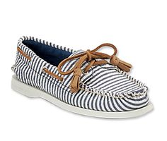 Striped #Sperry Top-Siders http://www.instyle.com/instyle/shopping/