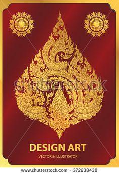 layout thai buddha outline stroke vector
