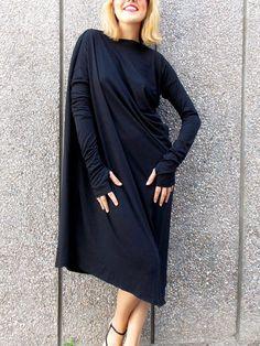 Black Asymmetrical Loose Kaftan Taking this to Dubai