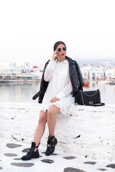 transition a summer dress into fall by Stella Asteria - Fashion