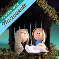 How to make a birth - Nativity Diy How to Make Easy Christmas Ornaments, Country Christmas Decorations, Christmas Paper Crafts, Christmas Nativity, Xmas Decorations, Christmas Projects, Kids Christmas, Natal Diy, Nativity Crafts
