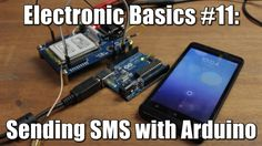 Send a text from Arduino !!!  Tutorial in the attached youtube video.