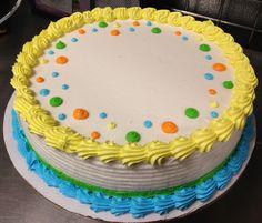 Dot border DQ ice cream cake