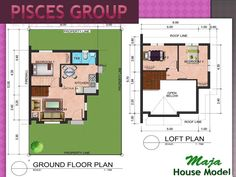 METROGATE SAN JOSE - HERITAGE VILLAS SAN JOSE - MAJA MODEL HOUSE - MAJA MODEL HOUSE FLOOR PLAN - 96SQM LOT AREA AND 60SQM FLOOR AREA...