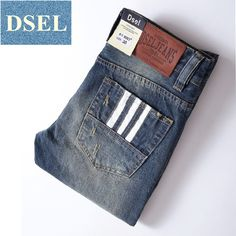 31ee8017a42d White Buttons Jeans Men Trousers Full Size 29 40 Designer Brand Blue Jeans  Pants Ripped Slim Fit Men`s 3 Lines Jeans D9003-in Jeans from Men s Clothing  ...