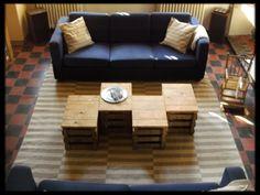 Maak zelf een modulaire salontafel van\noude fruitkratjes en geschaafde planken.\nJe kan je interieur aanpassen aan iedere\ngelegenheid of humeur.\...