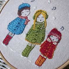 carol singers hand embroidery pattern PDF by LiliPopo on Etsy