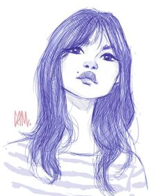 Warm up sketch from an H&M model reference. #art #drawing #illustration #sketch #doodle #cameronmarkart