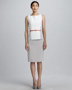 Giada Blouse & Katie Pencil Skirt by Elie Tahari at Neiman Marcus.