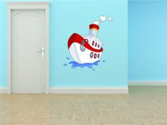 DAYCARE CLASSROOM Tug Steam Water Boat Figurine Boy Girl Kids Baby Picture Art Mural Vinyl Wall - Best Selling Cling Transfer Decal Color 643 30X50 Design With Vinyl Decals,http://www.amazon.com/dp/B00DGLHRF6/ref=cm_sw_r_pi_dp_GE4mtb0SF5WVZ1FR
