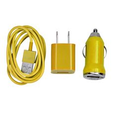 Introducing USB Car  AC Wall Charger  8 Pin Data Sync Cable for iPhone 5 5C 5S iPod Touch 5 Yellow. It is a great product and follow us for more updates!