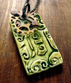 Featured artist Melanie Brooks is giving away this awesome ceramic Old English D pendant for our art goody giveaway. Visit the blog post to enter. Ends Sunday, April 28, 2013. #Detroit #jewelry #handmade #giveaway