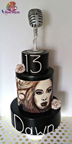 Hand painted Adele cake