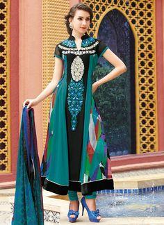 Georgette Printed Kalidar Suit