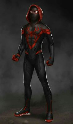 """It could do without the hood in my opinion, but I am OBSESSED with this Miles Morales MCU suit concept art by jaopicksart on Insta"" Spiderman Suits, Black Spiderman, Spiderman Spider, Amazing Spiderman, Hq Marvel, Marvel Comics Art, Marvel Heroes, Marvel Comic Universe, Marvel Concept Art"