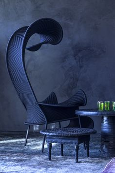 Shadowy Chair | Moroso | Black Version | Outdoor | Furniture | handmade in Senegal | Tord Boontje