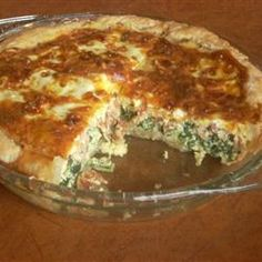 Spinach and Bacon Quiche Allrecipes.com
