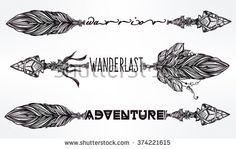 arrow on fire tattoo - Google Search