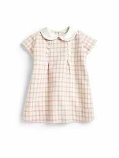 Baby CZ - Infant's Tweed Check Dress - Saks.com