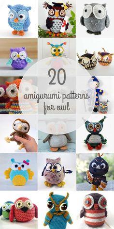 Owl patterns - Amigurumipatterns.net #amigurumianimal