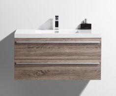 order golden elite cabinets bathroom vanities sofia wheat collection modern wall hung soft oak wheat soft closing melamine delivered right to - Wall Mounted Bathroom Vanity