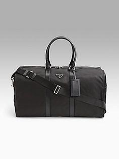 Prada Nylon Duffel Bag #Saks #PinItToWinIt