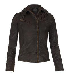 Belvedere Jacket, Mujer, Cuero, AllSaints Spitalfields
