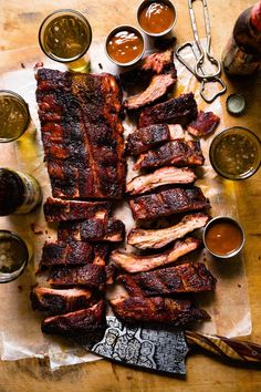 Baby Back Ribs with Cola Barbecue Sauce Real Food by dad Real Food Recipes, Great Recipes, Favorite Recipes, Rib Meat, Nice And Slow, Grilling Recipes, Traeger Recipes, Vegetarian Grilling, Healthy Grilling