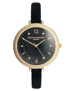 Olivia Burton Black Modern Vintage Watch - I usually prefer watches with metal bracelets, so this is a first...