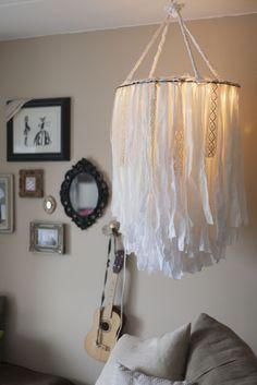 BEHOLDEN   DIY Cloth Chandelier,  Go To www.likegossip.com to get more Gossip News!