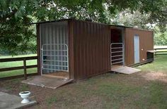 Shipping Container Barn Idea-cool idea for a shelter in a pasture!