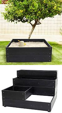 Raised Garden Bed - I liked the stepped one for a raised garden. Mostly for the looks. Not sure of the point. ?