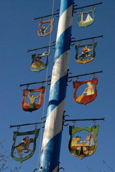 Maypole in Ammerland, Bavaria