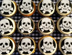 Handmade hand-painted by Stace Black White Rooms, Black And White, Skull Cupcakes, Hand Painted Cakes, Cupcake Cakes, Lady, Handmade, House, Hand Made
