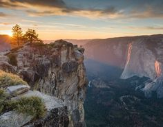 Sunset at Taft Point Photo by Tom McDermott -- National Geographic Your Shot