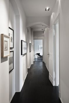 .what to do with those long boring hallways... a beautiful solution & aesthetically pleasing