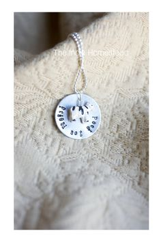 Vegan Cow Necklace  Hand stamped metal by indiehomestead on Etsy, $20.00