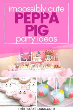 Peppa Pig Birthday Party Ideas | Mimi's Dollhouse Girl Birthday Decorations, Girls Birthday Party Themes, Girl Parties, Birthday Parties, Peppa Pig Birthday Ideas, Birthday Traditions, Pig Party, Birthdays, Party Ideas