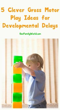 Trying to encourage your tot towards milestones & overcome developmental delays? Give these gross motor play tactics a go. Motor Skills Activities, Gross Motor Skills, Therapy Activities, Infant Activities, Kids Therapy, Leadership Activities, Group Activities, Pediatric Physical Therapy, Physical Education Games