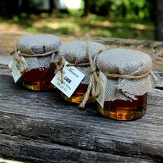 SET OF 45 Rustic Chic  pure raw honey wedding favors -honey  counrty chic wedding  barn wedding party favors, baby showers, bridal showers on Etsy, $171.00