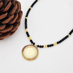 On Çeyrek Altınlı Halat Zincirli Kolye Beaded Necklace, Metal, Jewelry, Fashion, Gold, Beaded Collar, Moda, Jewlery, Pearl Necklace