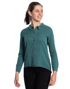 Cold Dye Bluse aus Tencel #veganemode #veganfashion #fairfashion Vegan Fashion, Cold, Super, Material, Jackets, Women, Products, Soft Fabrics, Silk