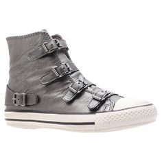 Kurt Geiger Lizzy High Top Trainers _Size 7 in gunmetal or bronze Online at johnlewis.com