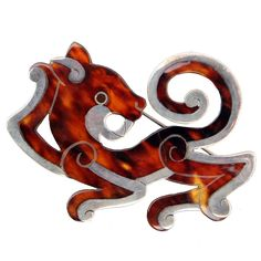 Jaguar Brooch by William Spratling | From a unique collection of antique and modern miscellaneous jewelry at http://www.1stdibs.com/more-furniture-collectibles/miscellaneous-jewelry/