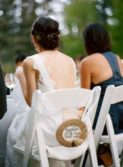This Bride said she used burlap (and cotton & lace) EVERYWHERE ;)