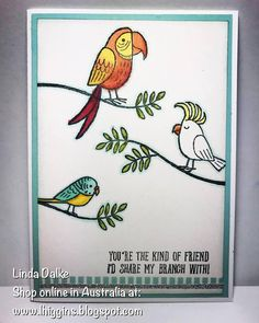 A little fun with the Bird Banter stamp set!
