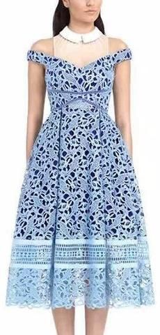 'Glossier' Dress in Blue
