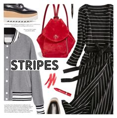 """Street Style:Stripes"" by metisu-fashion ❤ liked on Polyvore featuring MANU Atelier, STELLA McCARTNEY, Rimmel, Smith & Cult, imthankfulfor and metisu"